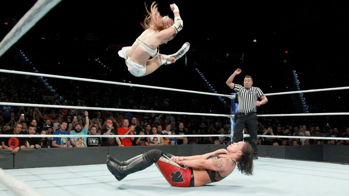 Shayna Andrea Baszler and Kairi Hôjô in WWE: Mae Young Classic Women Tournament (2017)