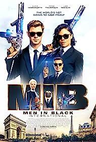 Liam Neeson, Emma Thompson, Tim Blaney, Chris Hemsworth, Tessa Thompson, and Kumail Nanjiani in Men in Black: International (2019)