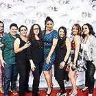 Adelina Anthony, Carolyn Zeller, Natalie Camunas, Marisa Becerra, Melissa Hidalgo, Stacy Macias, and Marlene Beltran Cuauhtin at an event for Bruising for Besos (2016)