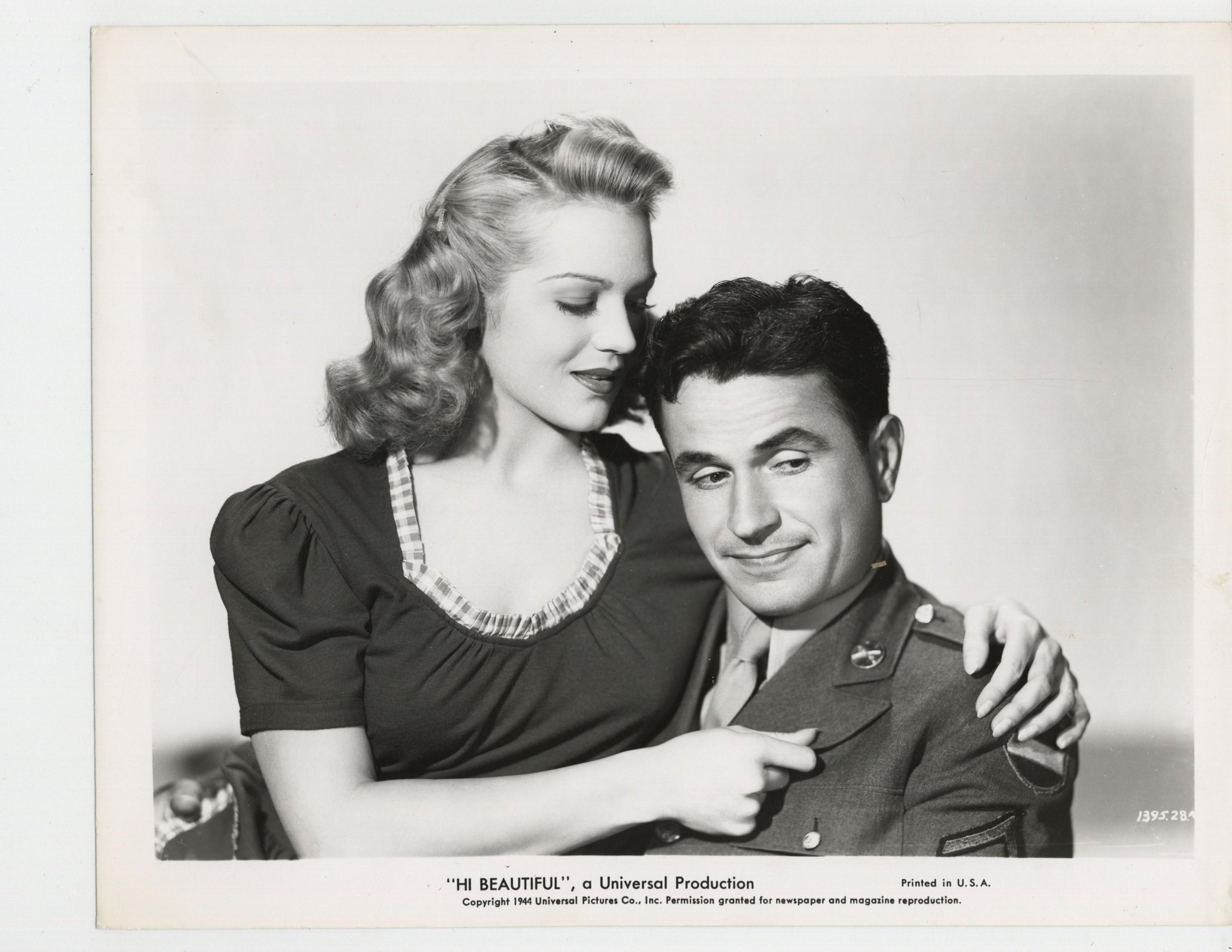 Noah Beery Jr. and Martha O'Driscoll in Hi, Beautiful (1944)