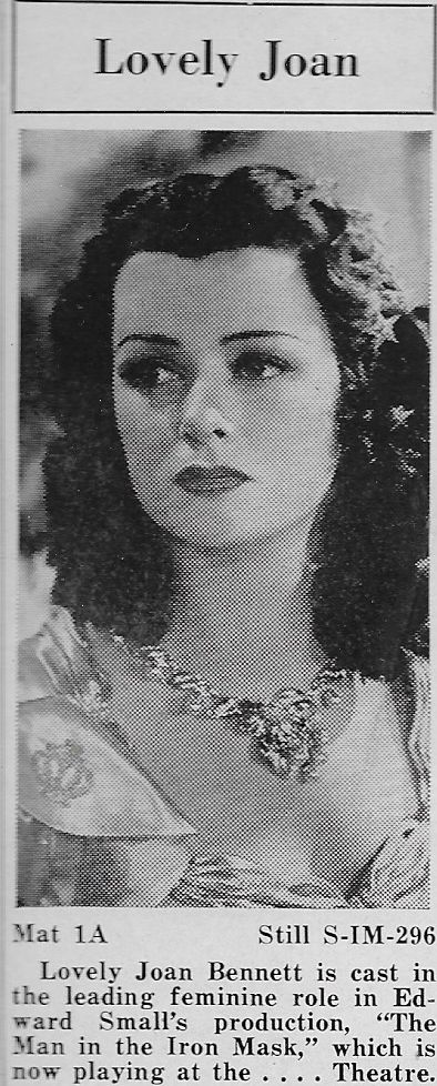 Joan Bennett in The Man in the Iron Mask (1939)