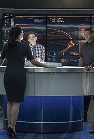 David Harewood, Chyler Leigh, Melissa Benoist, Katie McGrath, and Jeremy Jordan in Supergirl (2015)