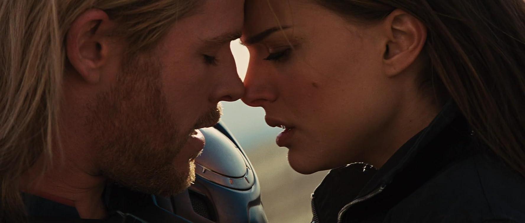 Natalie Portman and Chris Hemsworth in Thor (2011)