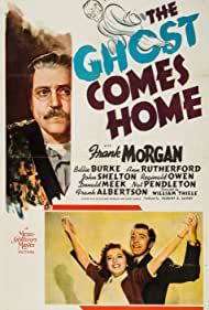 Billie Burke, Frank Morgan, and John Shelton in The Ghost Comes Home (1940)