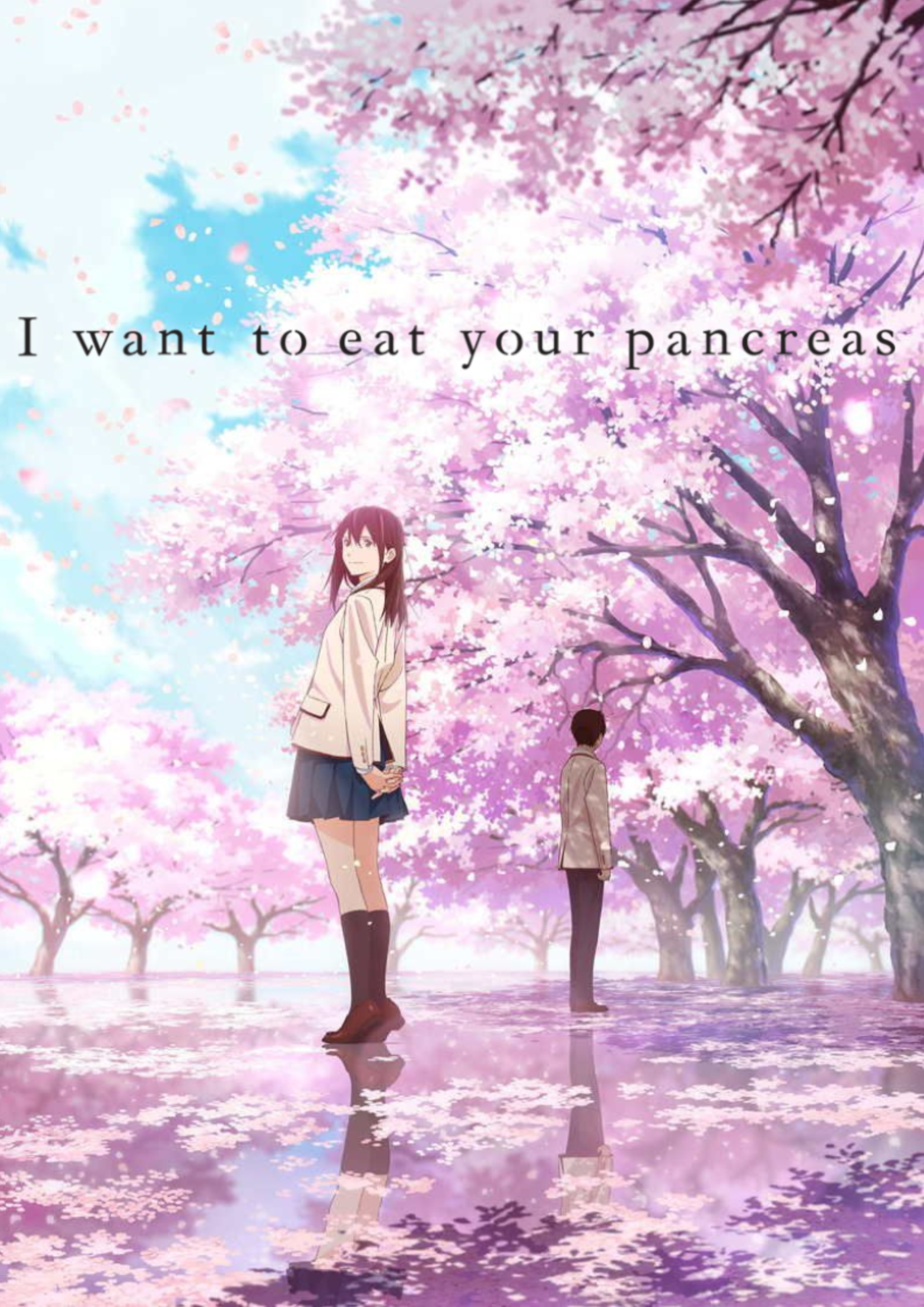 Image result for let me eat your pancreas anime poster