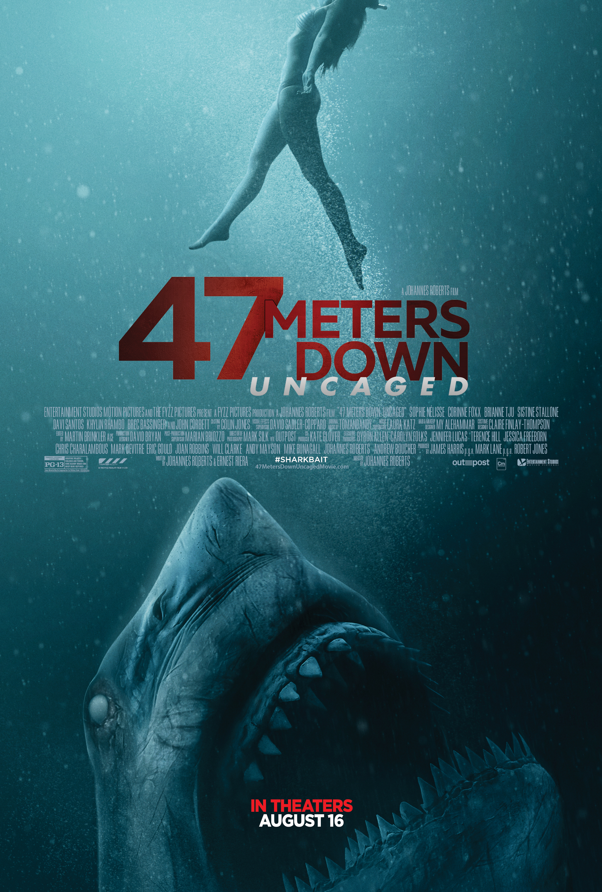Image result for 47 meters down uncaged poster