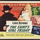 Diana Dors, Naomi Chance, Louis Hayward, Sydney Tafler, and Charles Victor in The Saint's Return (1953)