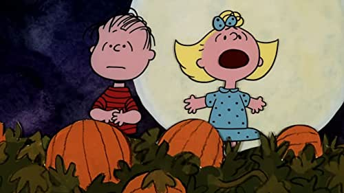 The Peanuts gang celebrates Halloween while Linus waits for the Great Pumpkin.