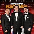 Sahan Gökbakar, Togan Gökbakar, and Irfan Kangi at an event for Kayhan (2018)