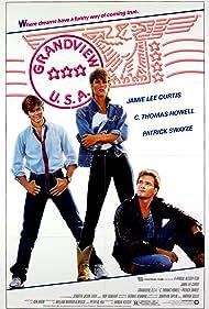 Jamie Lee Curtis, Patrick Swayze, and C. Thomas Howell in Grandview, U.S.A. (1984)