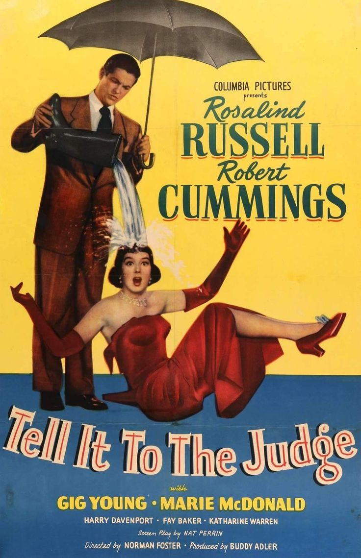 Robert Cummings and Rosalind Russell in Tell It to the Judge (1949)