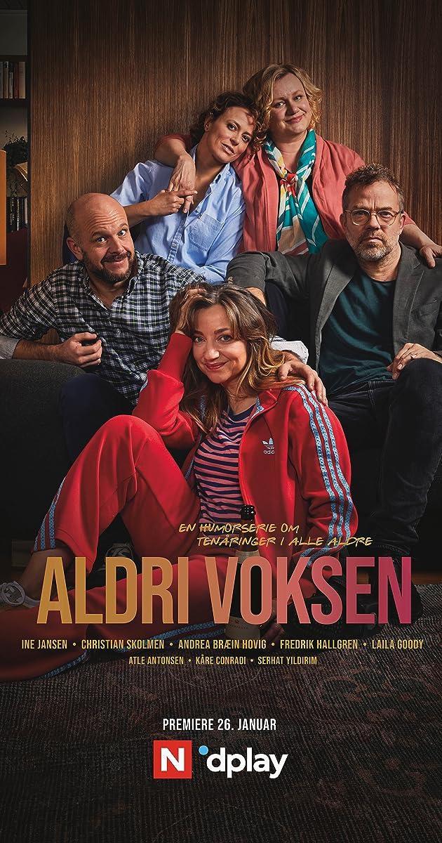 Download Aldri voksen or watch streaming online complete episodes of  Season1 in HD 720p 1080p using torrent