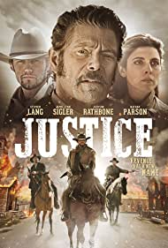 Stephen Lang, Jamie-Lynn Sigler, Nathan Parsons, John Lewis, and Nathaniel Augustson in Justice (2017)
