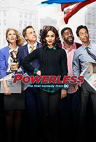 Christina Kirk, Alan Tudyk, Vanessa Hudgens, Danny Pudi, and Ron Funches in Powerless (2017)