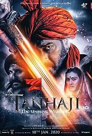 Kajol, Ajay Devgn, and Saif Ali Khan in Tanhaji: The Unsung Warrior (2020)