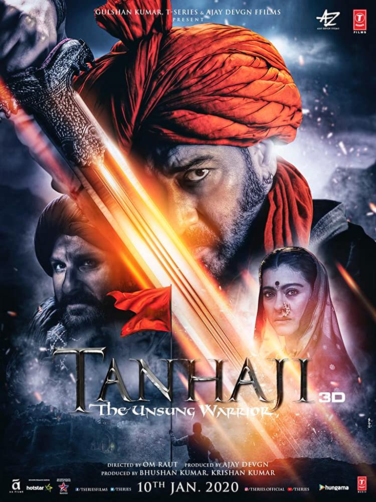 Tanhaji: The Unsung Warrior 2020 Hindi Movie HS WebRip 300mb 480p 1GB 720p 1.7GB 1080p