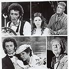 John Gielgud, Carrie Fisher, David Warner, and Robert Powell in Frankenstein (1984)