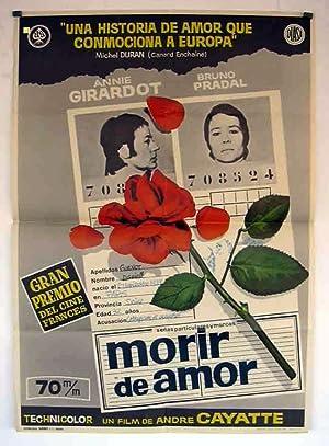 Mourir d'aimer... poster