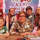 Bobby Lockwood, Paul McCaffrey, Louisa Connolly-Burnham, Iain Stirling, and Katie Mulgrew in The Dog Ate My Homework (2014)