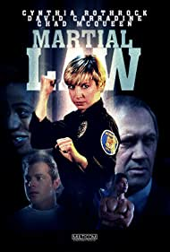 David Carradine, Cynthia Rothrock, and Chad McQueen in Martial Law (1990)