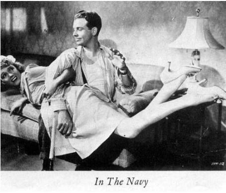 Claire Dodd and Dick Powell in In the Navy (1941)