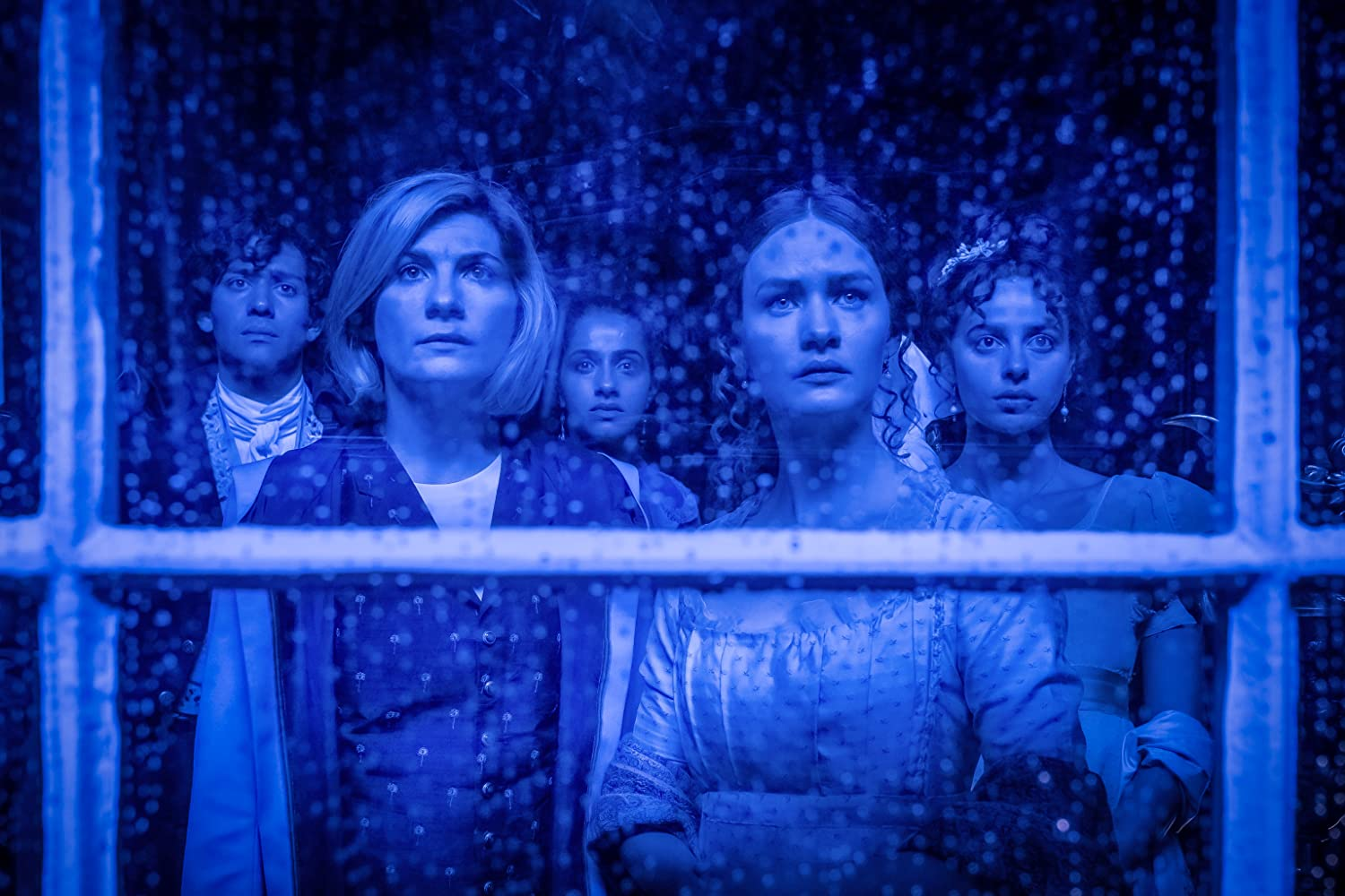 Nadia Parkes, Jodie Whittaker, Mandip Gill, and Lili Miller in Doctor Who (2005)
