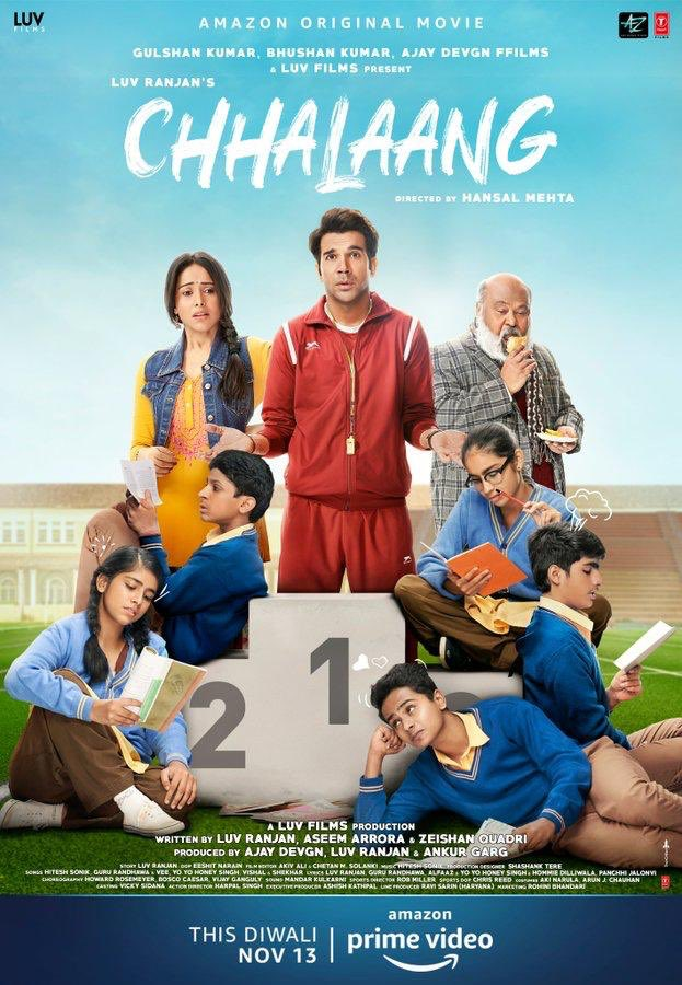 Chhalaang 2020 Hindi Movie 720p HDRip ESubs 900MB x264 AAC