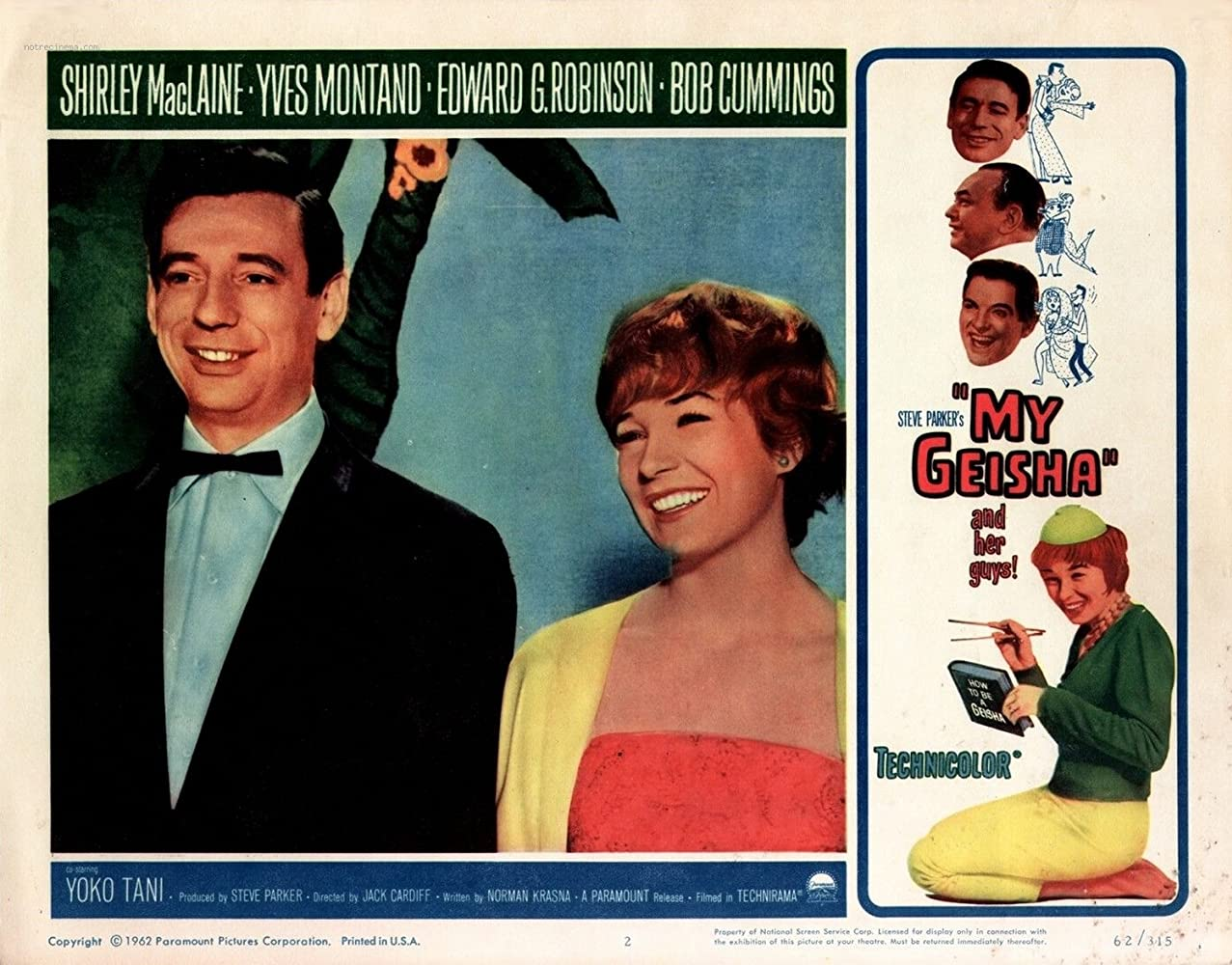 Image result for yves montand and shirley maclaine in my geisha
