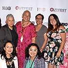 Karla Legaspy, Gloria De Leon, Marisa Becerra, Nancy Chargualaf Martin, Sandra Matrecitos, Melissa Hidalgo, and Stacy Iene Macias at an event for Amigas with Benefits (2017)