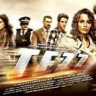 Ajay Devgn, Anil Kapoor, Mohanlal, Sameera Reddy, Boman Irani, Zayed Khan, and Kangana Ranaut in Tezz (2012)