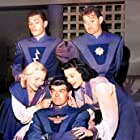 Nina Bara, Virginia Hewitt, Ed Kemmer, Ken Mayer, and Lyn Osborn in Space Patrol (1950)