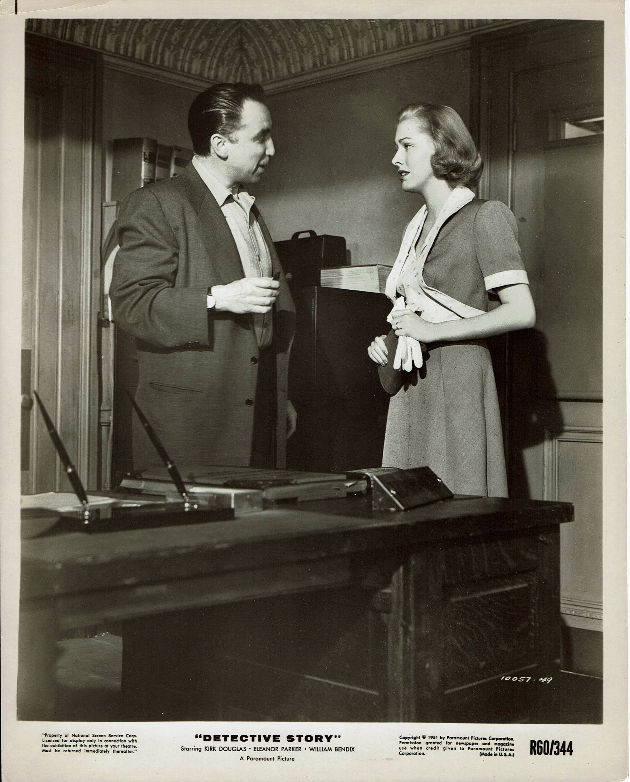 Horace McMahon and Eleanor Parker in Detective Story (1951)