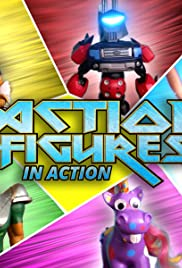 Action Figures in Action Poster