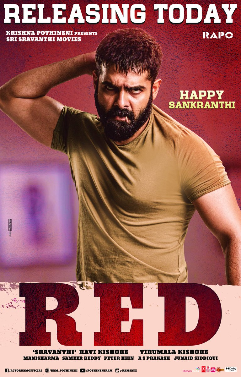 RED (2021) Telugu Movie 480p HDRip x264 ESubs 400MB
