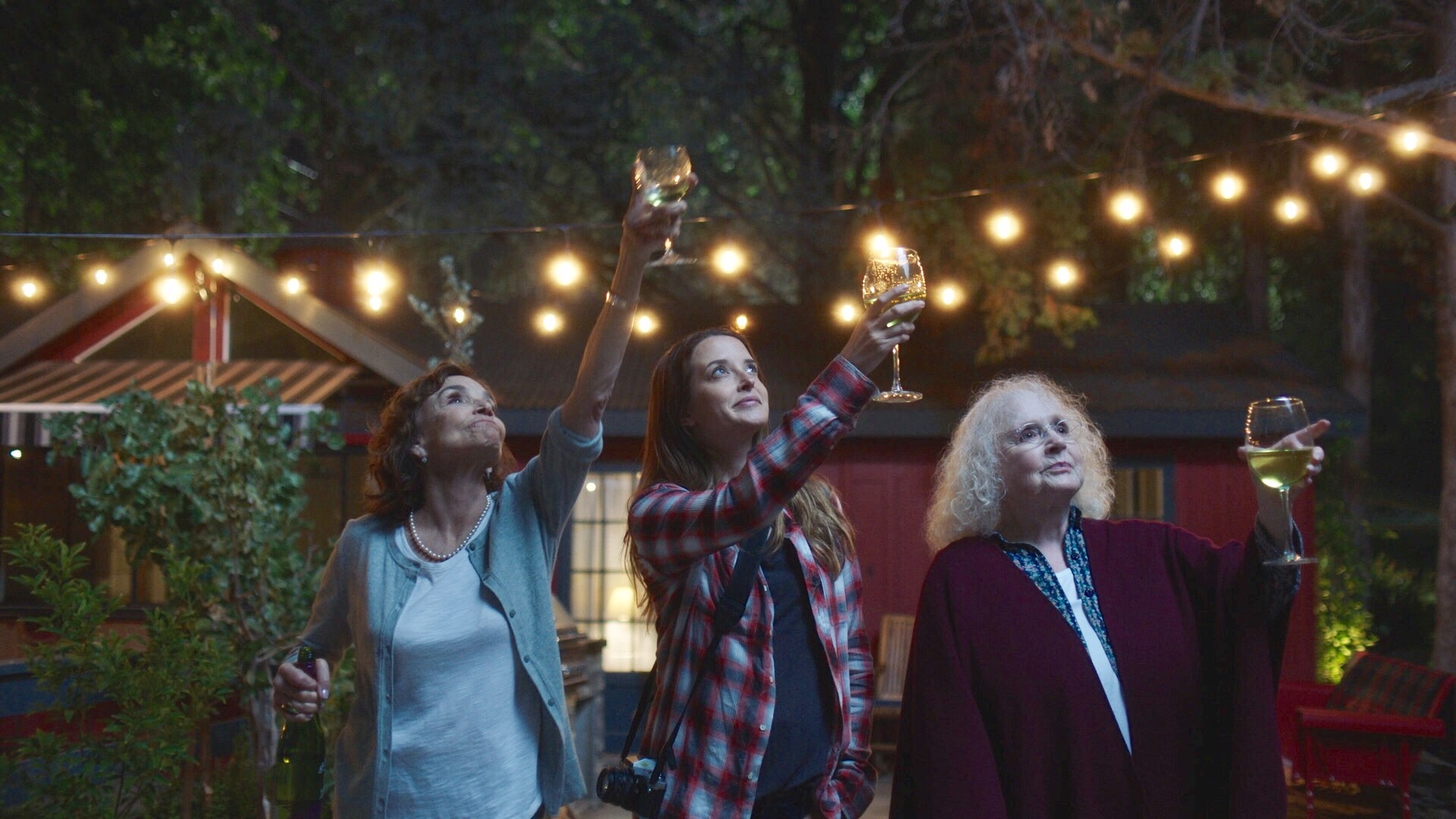 Brooke Adams, Piper Laurie, and Emily Baldoni in Snapshots (2018)