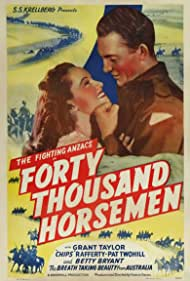 Betty Bryant and Grant Taylor in 40,000 Horsemen (1940)