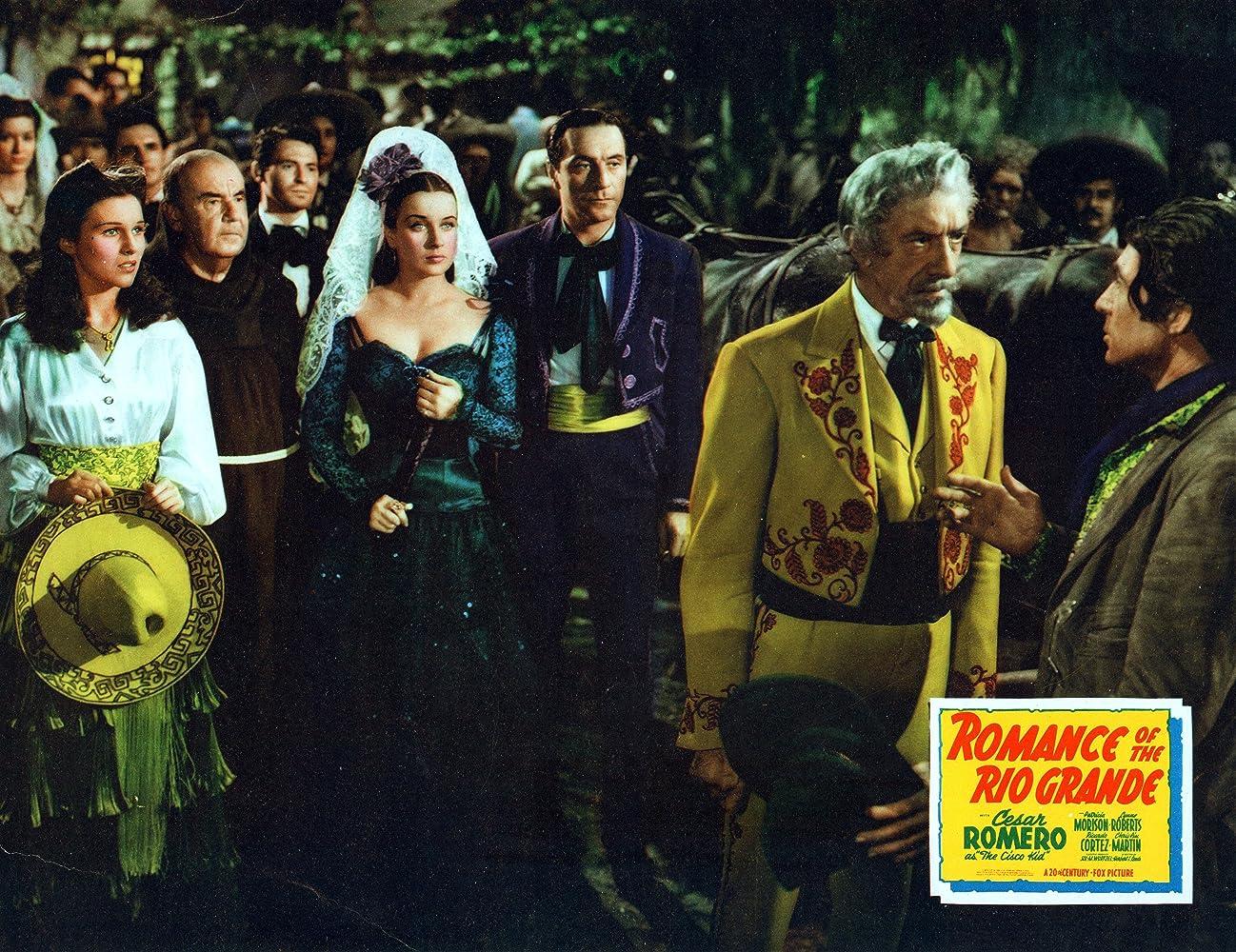 Cesar Romero, Pedro de Cordoba, Ricardo Cortez, and Patricia Morison in Romance of the Rio Grande (1940)