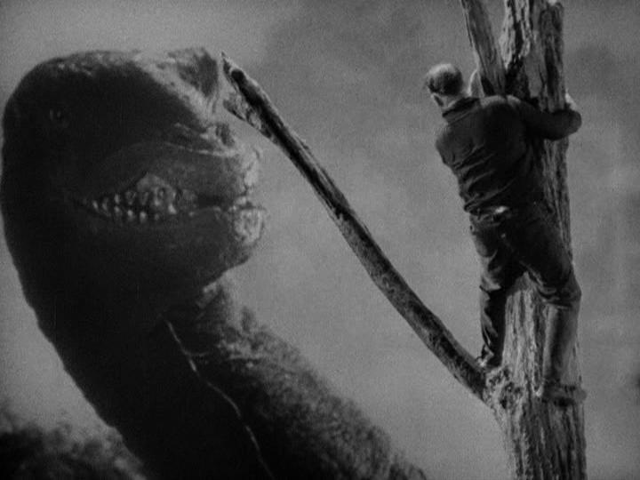 Robert Armstrong and King Kong in King Kong (1933)
