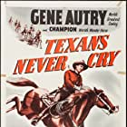 Gene Autry, Russell Hayden, and Champion in Texans Never Cry (1951)