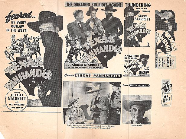 Tex Harding, Edward Howard, Nanette Parks, Charles Starrett, and Forrest Taylor in Texas Panhandle (1945)
