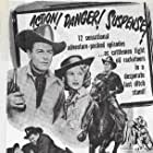 Judy Clark and Tom Keene in Desperadoes of the West (1950)