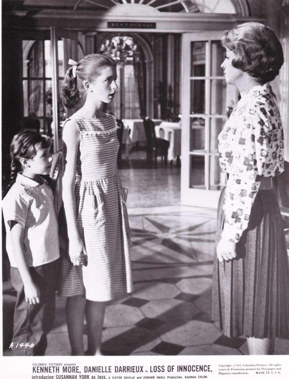 Jane Asher, Danielle Darrieux, and Elizabeth Dear in The Greengage Summer (1961)
