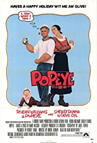 Robin Williams and Shelley Duvall in Popeye (1980)