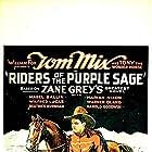 Mabel Ballin, Beatrice Burnham, Harold Goodwin, Wilfred Lucas, Tom Mix, Marian Nixon, and Warner Oland in Riders of the Purple Sage (1925)