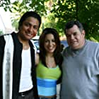 """Omar Leyva with Delilah Cotto and Michael Badalucco on the set of """"Broken Circle"""""""