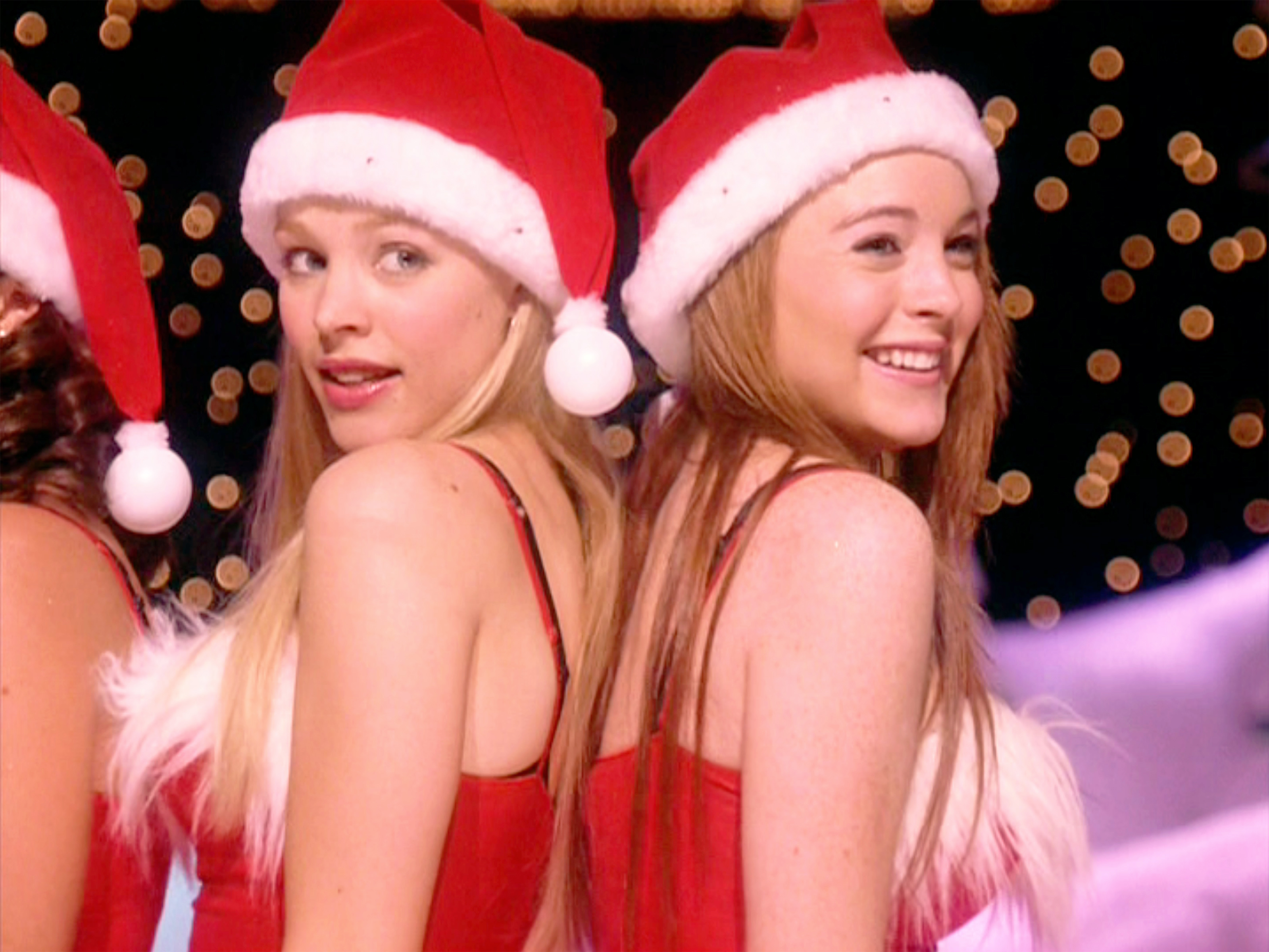 Lindsay Lohan and Rachel McAdams in Mean Girls (2004)