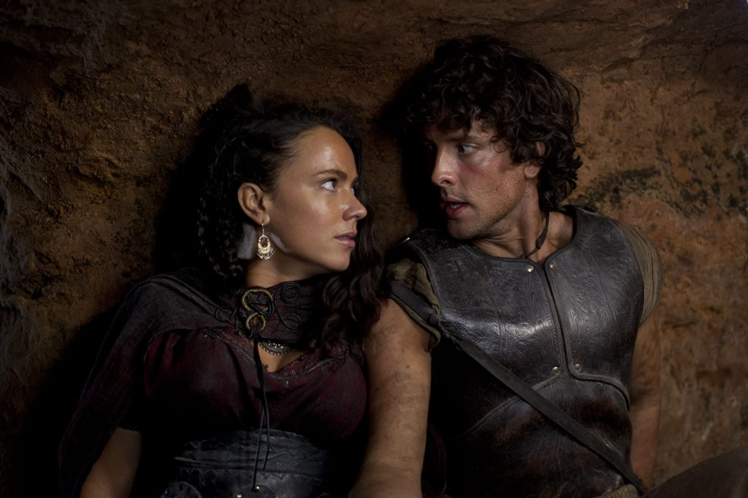 Amy Manson and Jack Donnelly in Atlantis (2013)