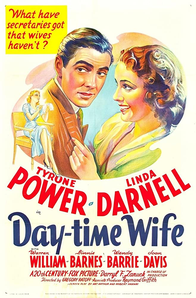 Tyrone Power and Linda Darnell in Day-Time Wife (1939)
