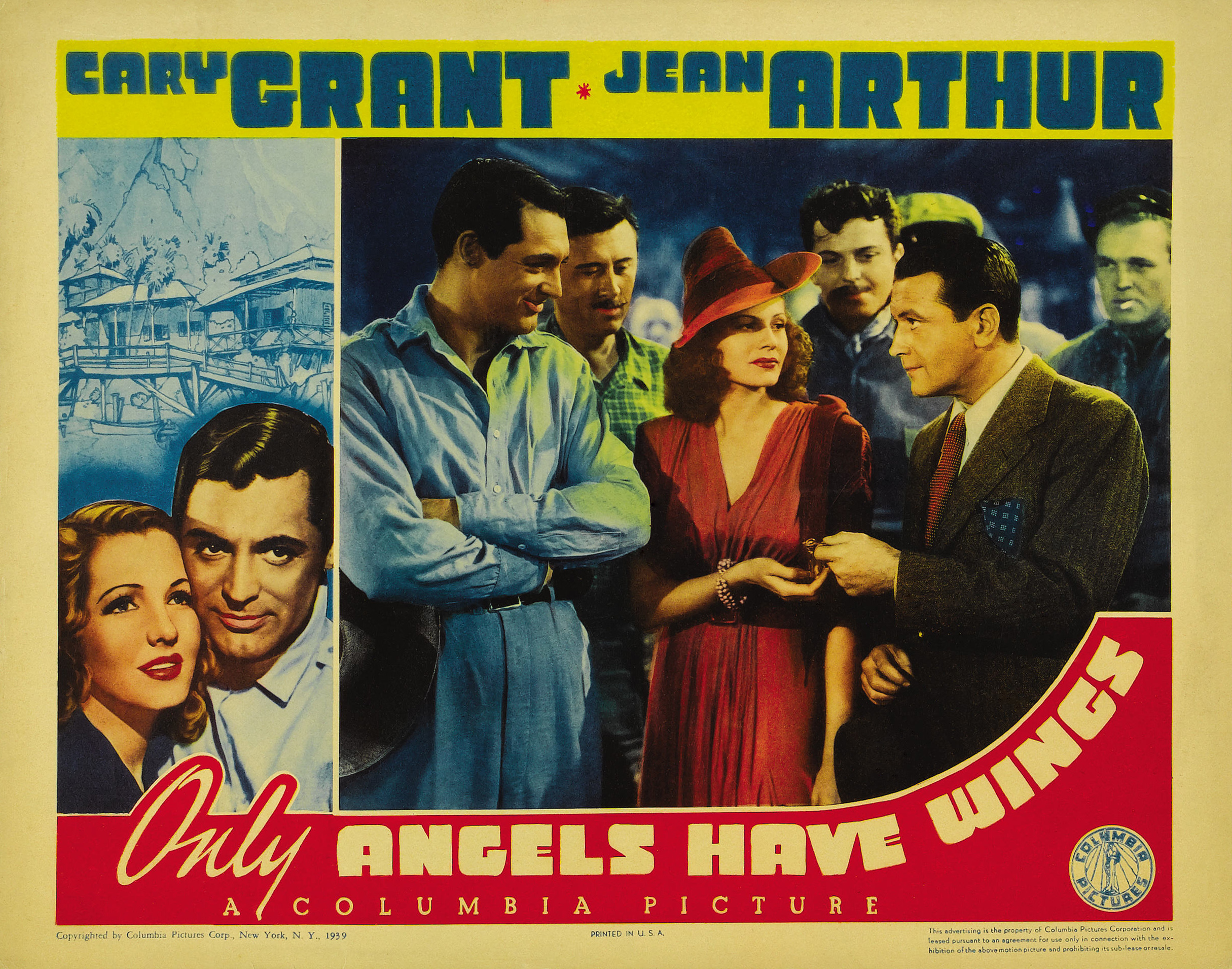 Cary Grant, Rita Hayworth, Jean Arthur, Richard Barthelmess, John Carroll, and Allyn Joslyn in Only Angels Have Wings (1939)