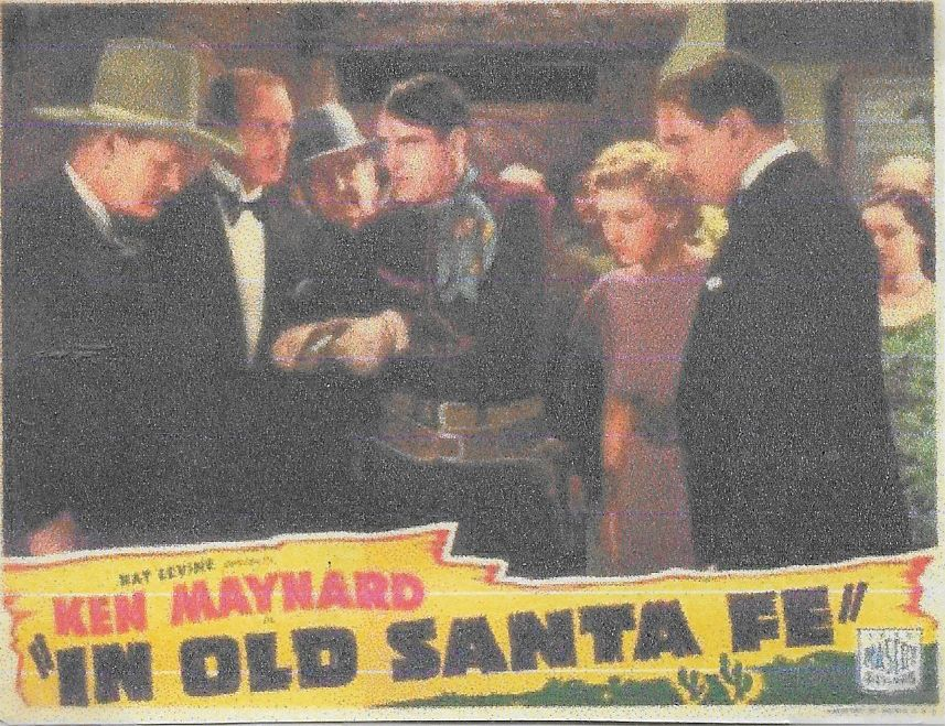 Evalyn Knapp, Ken Maynard, William McCall, Jack Rockwell, Kenneth Thomson, and H.B. Warner in In Old Santa Fe (1934)